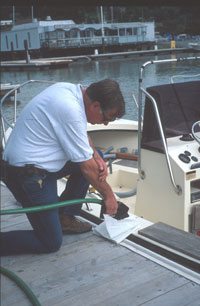 Fueling a boat